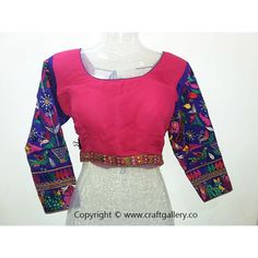 Georgette blouse with kutchi computer work sleeves - designer blouse --- Georgette blouse with kutchi computer work sleeves - designer blouse  Type : Designer Blouse Fabric : Georgette Sleeves : Up to - 40 inch Breast Size : L (Large) Additional Work : kutchi computer work  Online Shopping for KutchiBlouse and Designer Blouse on Craft Gallery .Co  Craft Gallery .Co - The Online Store of Handloom andHandicraft Products