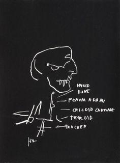 Jean-Michel Basquiat, Anatomy Series: Thyroid, 1982