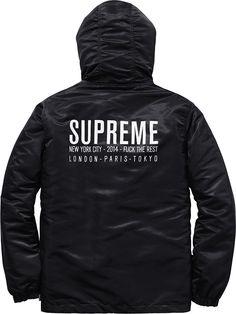 Supreme, Satin Twill Pullover (Black)