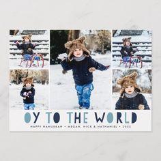 Oy to the World Hanukkah Greeting, Feliz Hanukkah, Hanukkah Cards, Hanukkah Gifts, Happy Hanukkah, Hanukkah Celebration, Christmas Hanukkah, Holiday Photo Cards, Holiday Photos