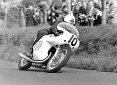 "oldschoolbikes: ""tulikas: ""McIntyre gallops the factory Bianchi twin in the 1961 Ulster Grand Prix. "" Find amazing custom bikes HERE"" Scooters, Motorcycle Racers, Isle Of Man, Super Bikes, Road Racing, The Good Old Days, Custom Bikes, Grand Prix, Motorbikes"