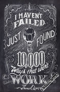 chalkboard quote poster artwork