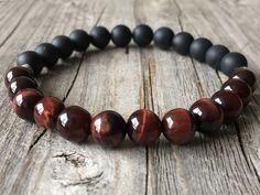Men gemstone bracelet,stretch staking bracelet, beaded surf bracelet, wanderlust…