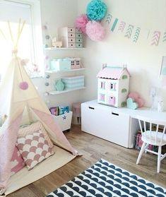 IKEA Stuva w pokojach dziecięcych Baby Bedroom, Girls Bedroom, Deco Kids, Fantasy Bedroom, Girl Bedroom Designs, Kids Room Design, Little Girl Rooms, Room Inspiration, Room Decor