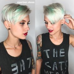 Platinum+Pixie+With+Turquoise+Highlights