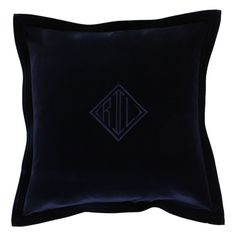 Add classic style to any setting with this velvet cushion cover by Ralph Lauren Home (please note, cushion pad not included but available separately). In chocolate brown, navy blue or light grey it