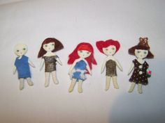 Kidmade OOAK 5 Lot of Miniature Hand Made  2 inch by RoyaltyPages, $8.00