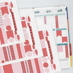 February Vintage Wallpaper Coordinating Planner Sticker Half Kit // Erin Condren Colors