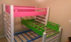 Triple bunk beds #Custombed #custom #kidsbed #kid #3bedsin1 #lego #bed #cabinet #googleme #woodwork #mikescustomwoodwork #followme #bunkbeds