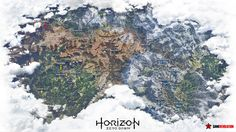 Horizon: Zero Dawn Map Leaks Is Enormous  The full map for Guerrilla Games' upcoming open-world action game Horizon: Zero Dawn has reportedly leaked showcasing the game's massive open world.  Warning: Possible Horizon: Zero Dawn spoilers below.  Check out the image below which surfaced on NeoGAF to get a look at the game's bustling biomes and what appears to three major areas: Sunfall Meridian and Mother's Heart.  Horizon: Zero Dawn releases exclusively for PlayStation 4 on February 28 in…