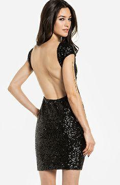 bahama mama, party dresses, christmas dresses, friend bahama, backless sequin, sequin dress, mama dress, black, parti