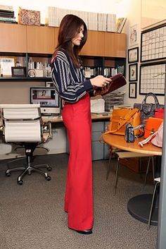 Chic at work...Red pants!