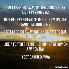"""My picture and true to the heart lyrics. -- #LyricArt for """"Carried Away"""" by George Strait"""