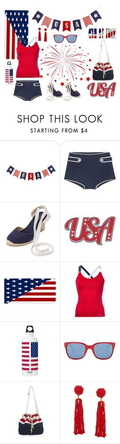 """""""4th of July Swim Set 🇺🇸"""" by jbeb ❤ liked on Polyvore featuring Miu Miu, Soludos, DC Shoes, Perfect Moment, Polo Ralph Lauren and Humble Chic"""