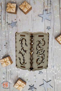 Windlicht aus Holz Graviert mit 1 LED Kerze Laser Cut Holzdeko Dekoration Deko Weihnachten die perfekte Teelicht für gemütliche Stimmung bei vielen Gelegenheiten
