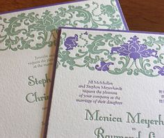 Our Lien lotus letterpress design from our Asian collection. Visit us for more wedding invitation designs.