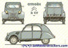 1959 CITROEN 2CV (affiche / décoration automobile)
