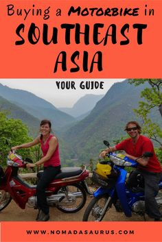 If you are thinking of buying a motorbike in Southeast Asia then have a read of this post. We give you advise on how to buy a motorbike, what to look for, travelling around, and insurance. Thailand Travel Tips, Asia Travel, Travel Guides, Travel Hacks, Backpacking Tips, South America Travel, Travel Activities, Travel Articles, Adventure Travel