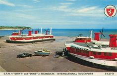 Cross Channel Hovercraft services. Never got to travel from 'Ramsgate International Hoverport'. Last service 2000.