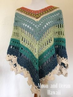Crochet Ponchocustom order by moonandoceanhawaii on Etsy