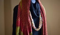 Our 100% Cotton Mala necklaces are stylish AND sustainable -- they're made from the remnants of our coats!