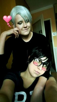 So yes,this is my fault, I persuaded Akira to do this cosplay :D ladys and gentelmens I present to you Viktor and Yuuri from Yuri on Ice :D Sorry, I had to xD  Series: Yuri on Ice Characters: Viktor Nikiforov  (Dżasta) instant, Yuuri Katsuki (Akira) instant  Indżoj #yurionice #victornikiforov #yurikatsuki #viktornikiforovcosplay #yurikatsukicosplay #yuriviktor #victuri