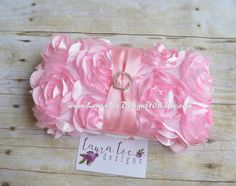 Light Pink Chiffon Roses with Rhinestone by LauraLeeDesigns108