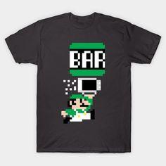 To The Bar Bro! T-Shirt - Super Mario Bros T-Shirt is $14 today at TeePublic!