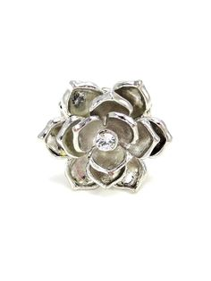 Silver Elastic Flower Ring - $10.00 : FashionCupcake, Designer Clothing, Accessories, and Gifts