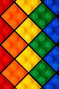 Brightly colored Legos