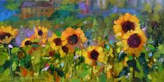 """Daily Paintworks - """"Oh Happy Day"""" - Original Fine Art for Sale - © Dreama Tolle Perry"""