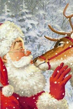 Vintage Wallpaper Fashion Christmas Cards Ideas For 2019 Christmas Scenes, Noel Christmas, Father Christmas, Vintage Christmas Cards, Retro Christmas, Christmas Greeting Cards, Christmas Pictures, Christmas Greetings, Winter Christmas