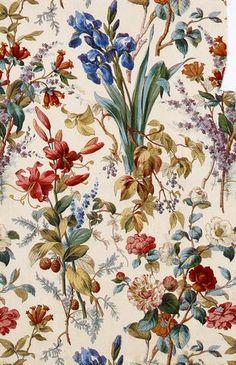 Étoffe d'ameublement Mulhouse, manufacture Thierry-Mieg & Cie, 1867, impression à la planche de bois sur coton, 1867. Mulhouse, musée de l'Impression sur Étoffes
