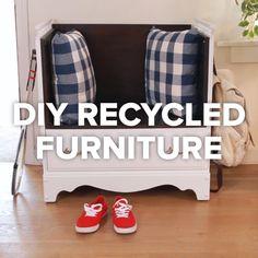 Haz click en la imagen para encontrar ideas para reciclar los muebles de tu casa. Este mueble reciclado nos ha encantado. ¡Es muy original! Para más pins como éste visita nuestro tablero. Espera!--> No te olvides de pinearlo si te gusta! #reciclar #muebles #DIY #mueblesreciclados