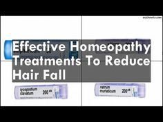 Homeopathy Treatments To Reduce Hair Fall - YouTube
