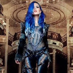 Love ❤️ the blue hair Chica Heavy Metal, Heavy Metal Girl, Goth Bands, Alissa White, Women Of Rock, Arch Enemy, Guitar Girl, Goth Beauty, Punk Fashion