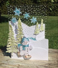 5 Frolicking Frosty Christmas card ideas - Heartfelt Creations                                                                                                                                                                                 More