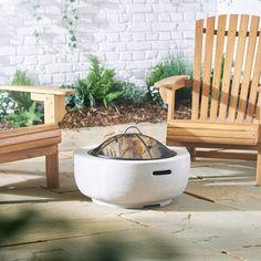La Hacienda PORTO Dark Grey Magnesia//Steel Garden Fire pit Outdoor Patio Heater