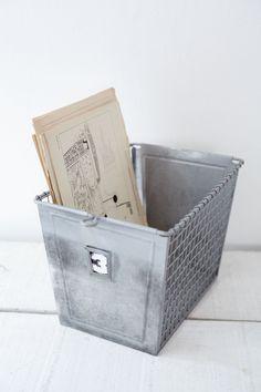 Zinc & Wire Storage Box from Cox & Cox