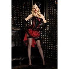 Enticing Burlesque Scarlett Corset with Lace Trim, Front Bow Detail#corset
