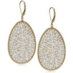 Dana Kellin Large Oval Elegant Earrings - designer shoes, handbags, jewelry, watches, and fashion accessories | endless.com