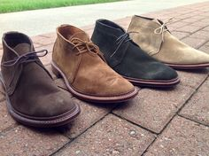 Alden Men's Unlined Chukka Boots. Suede Leather. Leydon Last. Flex Welt.