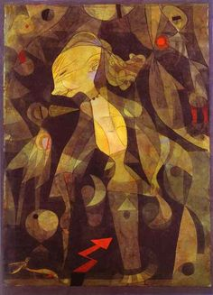A Young Lady's Adventure, 1922, by Paul Klee