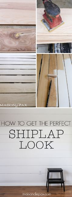 Looking for a perfect weekend project?  Try this easy DIY tutorial on how to get the perfect shiplap look. It's a simple and creative way from Rachel of Rachel Paxton |           Maison de Pax to keep your bedroom, kitchen, or bathroom up-to-date—while adding a rustic and textured feel to your space.