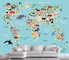 Χάρτης με ζώα   Παιδικά