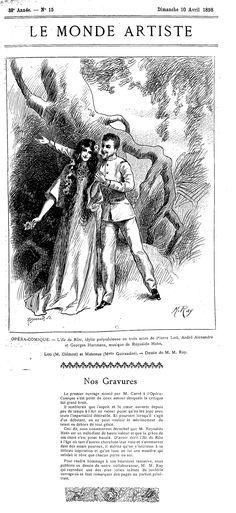 """10 avril 1898 - L'Île du rêve (""""nos gravures"""")"""