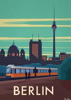 alex247 Art print Berlin