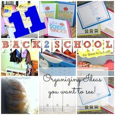 11 Back to School Organizing Ideas you want to see!