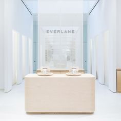 After a series of pop-ups, online fashion brand Everlane has opened its first brick-and-mortar shop in New York, featuring an interior designed with local studio Leong Leong.