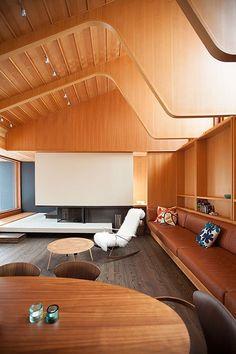 One view of Ravine Edge House, Toronto, by Shim-Sutcliffe Architects.
